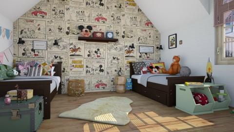 mickey  - Vintage - Kids room  - by marinmarin