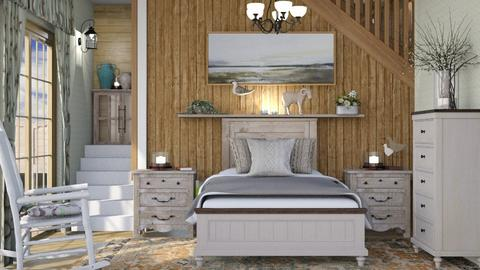 M_ Rustic effect - Bedroom  - by milyca8