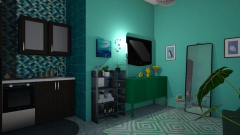 small kitchen living room - by tiana24