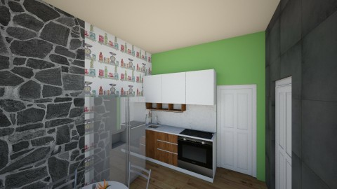 studio unit kitchen - Minimal - Kitchen - by Rae Won Han