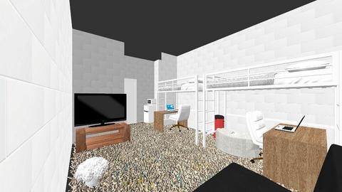 Dorm Room 1 - Bedroom  - by heidit101203