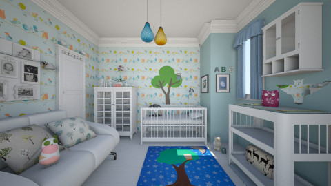 Eclectic Nursey_Owl - Eclectic - Kids room  - by milyca8