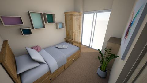 Tiny Room Wood Theme - Minimal - Bedroom - by hz00060