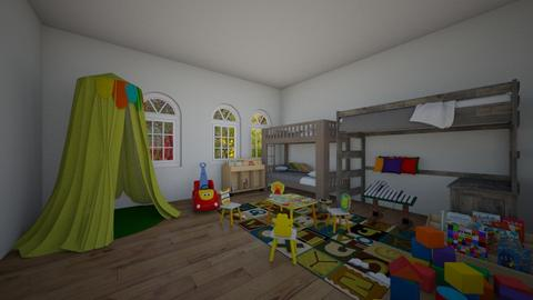 creative bedroom - Retro - Kids room - by wolfiewolf123