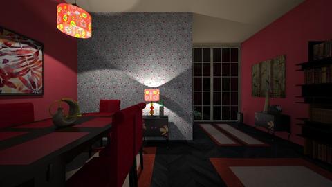 Red harmony - Classic - Living room  - by Ana Angela