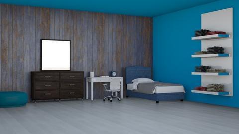 Bland Blue Bedroom - Kids room  - by TravelThroughTheParks