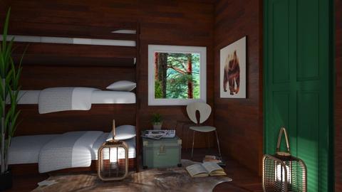 Lil Cabin 2 - Rustic - Bedroom  - by millerfam