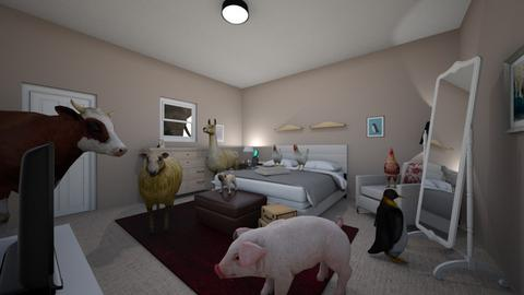 bedroom with animals - Bedroom  - by cd05