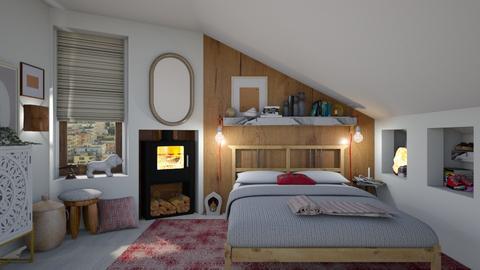Winter bedroom - Modern - Bedroom  - by augustmoon