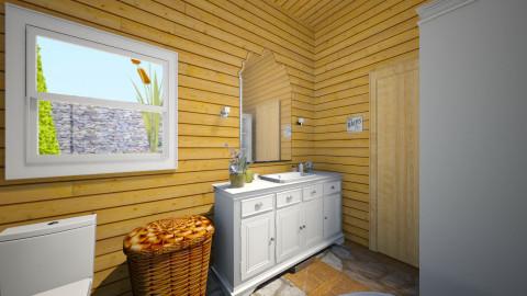 the barn - Rustic - Bathroom  - by Elizabeth Lincoln