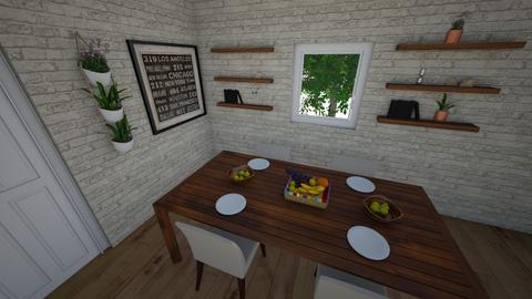design 1 - Rustic - Dining room  - by larsen lewan