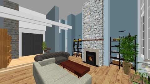 Blue Great Room - by Bridgemoof