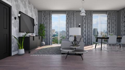 grey - Living room  - by Isabella_Palmeri
