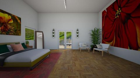 Okeefe Art - Minimal - Bedroom - by CitrusSunrise