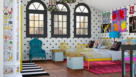Cameretta eclettica - Kids room  - by Charipis home