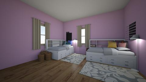 Girls Shared Room - Glamour - Bedroom  - by Anna_Marie_06