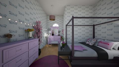 Pink bedroom - Classic - Bedroom - by Charlotte Mitchell