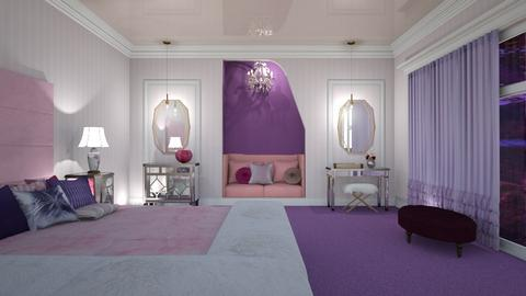Purple and Pink - Bedroom  - by yonvie