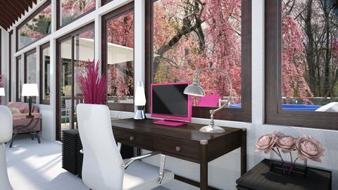 Pink and Cats Desk - Office  - by Amyz625