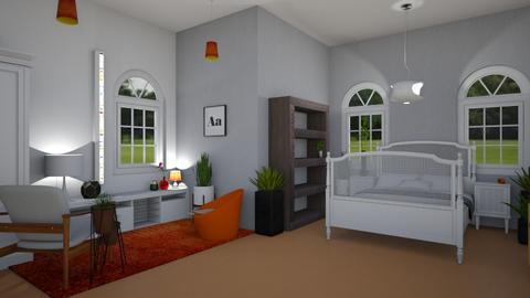 Orange Carpet - Glamour - Bedroom  - by Isaacarchitect