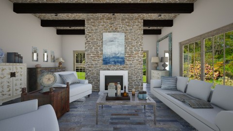 living rustico - Rustic - Living room  - by Muoz Rebeca