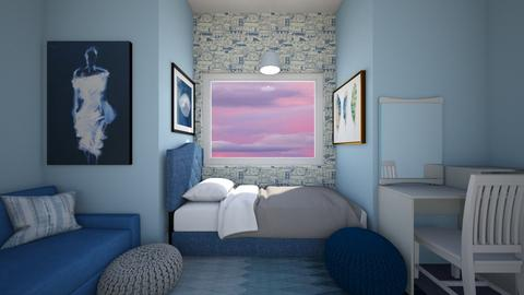 Blue Room Contest - Bedroom  - by Chrispow0105