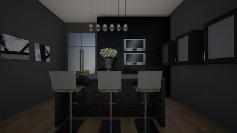Black Kitchen - Kitchen  - by MaiZee20