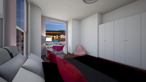 pink - Bedroom  - by katarinalaaksonen