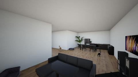 Black house - Living room  - by this is thora