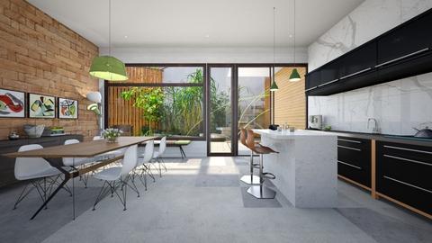 Retro Kitchen ModDezign  - Kitchen - by Sanja S