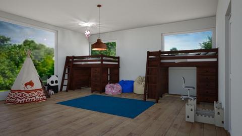 2 in 1 - Kids room  - by Babybluewolfboo