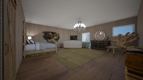 modern wood bedroom - Bedroom  - by RhodriSimpson13