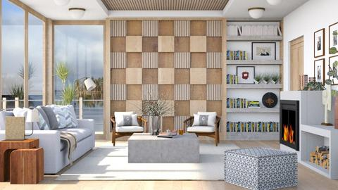 Wooden wall - Living room  - by Lizzy0715