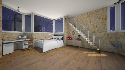Navy  - Bedroom - by Elena Heimark