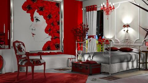 poppy bedroom - Modern - Bedroom  - by nat mi