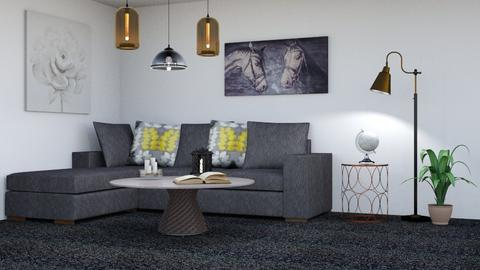 Bronze White and Gold - Living room  - by Jahsoftball_