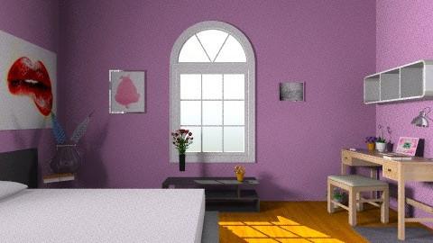 glam chika - Vintage - Bedroom  - by roopikanair
