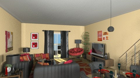 JerrBear 1 - Eclectic - Living room  - by Patti58