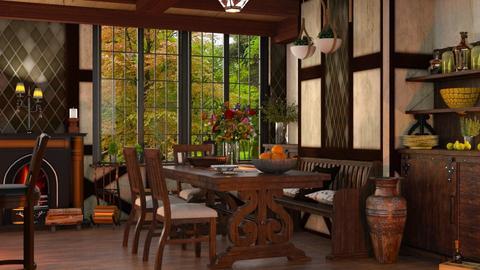 Tudor - Rustic - Dining room  - by ZsuzsannaCs