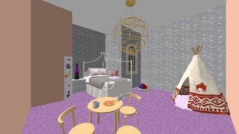 girl room - Feminine - Garden  - by nadiaheheh