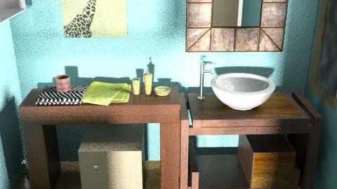 safari bathroom - Eclectic - Bathroom  - by lkick