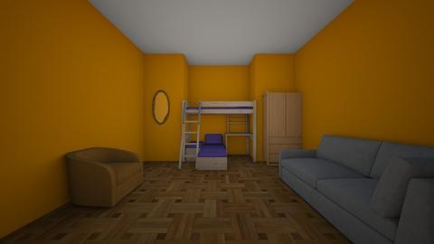 Warm Bedroom - Bedroom  - by BlueDino117