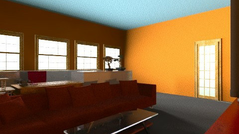 orange and red office - Eclectic - Office  - by annvalerieggalas