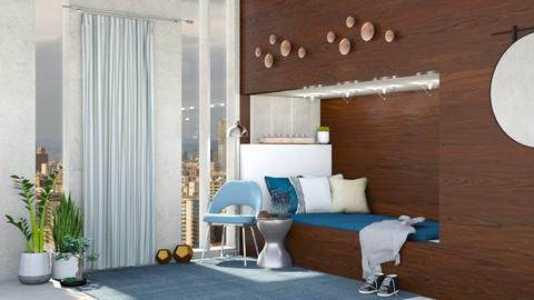 Penthouse Bed - Modern - Bedroom  - by Isaacarchitect