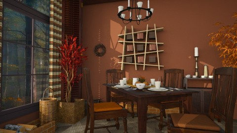 Autumn Dream Dining - Rustic - Dining room  - by ZsuzsannaCs