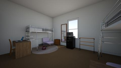 College Dorm - Modern - Bedroom - by Haniwen