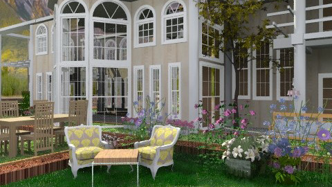 House in the Spring Hills. 2 - Country - Garden  - by Your well wisher