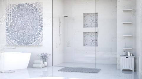 Lavender bathroom - Bathroom - by stella_06