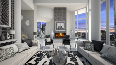 penthouse - Glamour - Living room  - by Senia N
