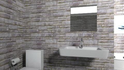 beginner bathroom - Bathroom - by cgrace119